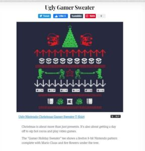 christmasgamersweatertshirtvortex